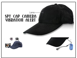 Spy Cap Camera Vibration Alert