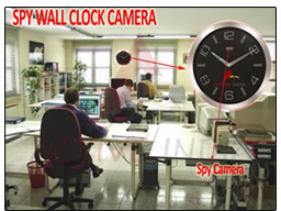 4GB Spy Hidden Wall Clock Camera