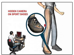 Spy Camera In Sports Shoes
